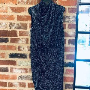 Haute Hippie Twist Neck Gathered Dress